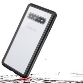 Husa Samsung Galaxy S10 Magnetica 360 grade Black, Perfect Fit cu spate de sticla securizata premium + folie de protectie gratis