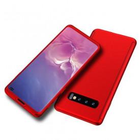 Husa Samsung Galaxy S10 Plus, FullBody Elegance Luxury Rosu, acoperire completa 360 grade cu folie de protectie gratis