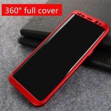 Husa Samsung Galaxy S8, FullBody Elegance Luxury Red, acoperire completa 360 grade cu folie de protectie gratis