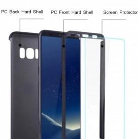 Husa Samsung Galaxy S8 Plus, FullBody Elegance Luxury Black, acoperire completa 360 grade cu folie de protectie gratis