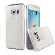 Pachet husa Elegance Luxury slim pentru Samsung Galaxy S7 TPU 0.3mm Transparenta cu folie de sticla gratis