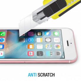 Pachet husa Elegance Luxury Tip Oglinda Rose-Gold pentru Apple Iphone 5 / Apple iPhone 5S / Apple iPhone 5SE cu folie de sticla gratis !