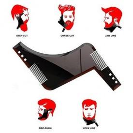 Pieptene Contur Barba & Mustata MyStyle PRO / Sablon pentru Barba & Mustata ca la Salon Negru
