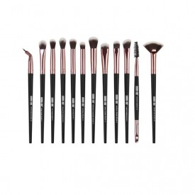 Set 12 pensule Machiaj Cosmetic Make-up Profesional, Black