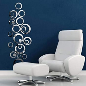 Set Oglinzi Design Modern - Oglinzi Decorative Acrilice Cristal - Diamant - Luxury Home 24 bucati/set