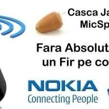 Stick Nokia + Casca Japoneza MicSpy culoarea pielii ,nedetectabila.Produs NOU!!