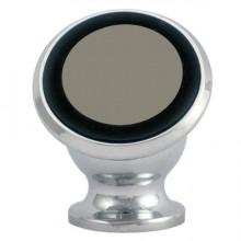 Suport auto magnetic de culoare argintie pentru telefoane mobile, prindere cu adeziv