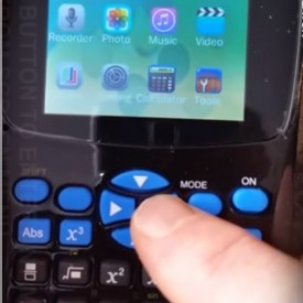 Calculator stiintific mp4 cu text ascuns - eBook, mp3, mp4, reportofon, vizualizare poze - buton urgenta