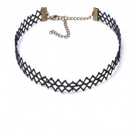 Choker Fashion Black Mesh - Colier elegant pentru gat - Black Delux