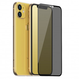 Folie de sticla 5D Apple iPhone 11, Privacy Glass Elegance Luxury, folie securizata duritate 9H