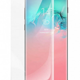 Folie de sticla pentru Samsung Galaxy S10, cu margini colorate Negru
