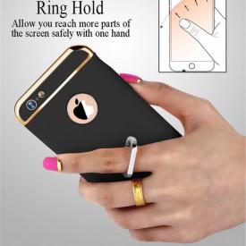 Husa Apple iPhone 7 Plus, Elegance Luxury 3in1 Ring Black