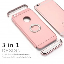 Husa Apple iPhone 7 Plus, Elegance Luxury 3in1 Ring Rose-Gold