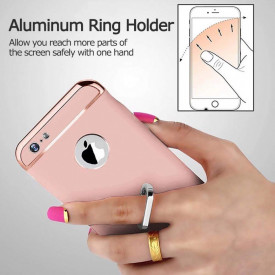 Husa Apple iPhone 8, Elegance Luxury 3in1 Ring Rose-Gold