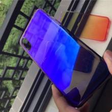 Husa Apple iPhone 8, MyStyle Gradient Color Cameleon Albastru-Galben