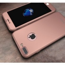 Husa Apple iPhone 8 Plus, FullBody Elegance Luxury iPaky Rose-Gold , acoperire completa 360 grade cu folie de sticla gratis
