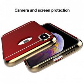 Husa Apple iPhone X, Elegance Luxury 3in1 Rosu