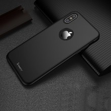 Husa Apple iPhone X, FullBody Elegance Luxury iPaky Black , acoperire completa 360 grade cu folie de sticla gratis