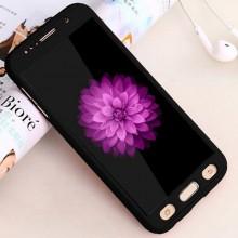 Husa FullBody Elegance Luxury Black pentru Samsung Galaxy J7 2016 acoperire completa 360 grade cu folie de protectie gratis