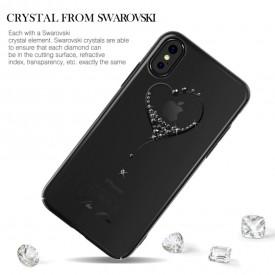 Husa Kingxbar pentru Apple iPhone X design Cristale Swarovski - Black