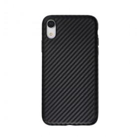 Husa pentru Apple iPhone XR, MyStyle Perfect Fit, cu insertii de carbon, negru