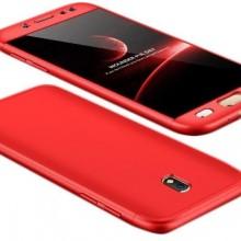 Husa Samsung Galaxy J5 2017, FullBody Elegance Luxury Red, acoperire completa 360 grade cu folie de sticla gratis