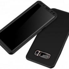 Husa Samsung Galaxy Note 8, FullBody Elegance Luxury Negru, acoperire completa 360 grade cu folie de protectie gratis