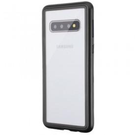 Husa Samsung Galaxy S10 Plus Magnetica 360 grade Black, Perfect Fit cu spate de sticla securizata premium