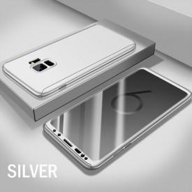 Husa Samsung Galaxy S9, FullBody Elegance Luxury Argintiu, acoperire completa 360 grade cu folie de protectie gratis