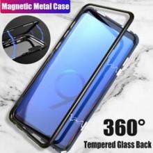 Husa Samsung Galaxy S9 Magnetica 360 grade Black, MyStyle Perfect Fit cu spate de sticla securizata premium + folie de protectie gratis