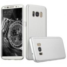 Husa Samsung Galaxy S9 Plus, FullBody Elegance Luxury Argintiu, acoperire completa 360 grade cu folie de protectie gratis