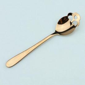 Lingurita in forma de craniu pentru zahar, inghetata, bomboane, etc., GOLD, MyStyle®