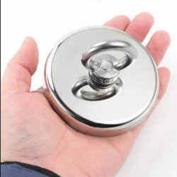 Magnet neodim oală D75 mm cârlig inelar Magnet fishing 200 Kg forta