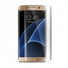 Pachet husa Elegance Luxury pentru Samsung Galasy S6 Egde TIP OGLINDA ARGINTIE ( SILVER ) cu folie de protectie gratis !
