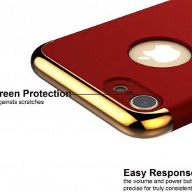 Pachet husa Elegance Luxury Ultrasubtire 3in1 Ring Red pentru Apple iPhone 7 cu folie de sticla gratis