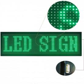 Panou Led de Exterior Programabil/Reclama Luminoasa 100x40 VERDE