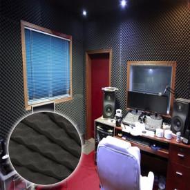 Burete acustic & izolator fonic pentru Studio / Home Cinema Autoadeziv 100x100x3 cm