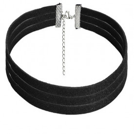 Choker Fashion Black MS - Colier elegant pentru gat - Black Delux
