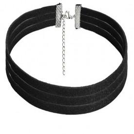 Choker Mystyle Fashion Black MS - Colier elegant pentru gat - Black Delux