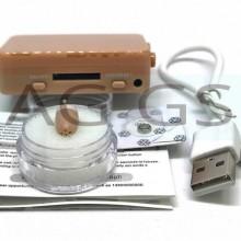 Cutie GSM COVERT TALK + casca Japoneza MC2500 culoarea pielii raspuns automat