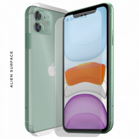FOLIE ALIEN SURFACE HD, Apple iPhone 11, PROTECTIE FATA,SPATE,LATERALE + ALIEN FIBER CADOU
