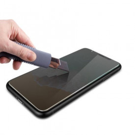 Husa Apple iPhone 11 Magnetica cu spate din sticla securizata si folie privacy pentru ecran, Perfect Fit