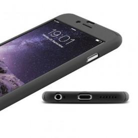 Husa Apple iPhone 6/6S, FullBody Elegance Luxury Black, acoperire completa 360 grade cu folie de sticla gratis