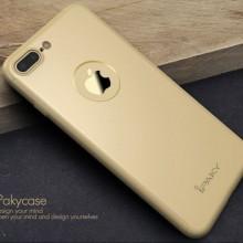 Husa Apple iPhone 7 Plus, FullBody Elegance Luxury iPaky Gold, acoperire completa 360 grade cu folie de sticla gratis