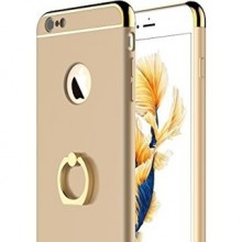 Husa Apple iPhone 8, Elegance Luxury 3in1 Ring Gold
