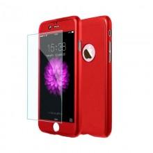 Husa Apple iPhone 8, FullBody Elegance Luxury iPaky Red, acoperire completa 360 grade cu folie de sticla gratis