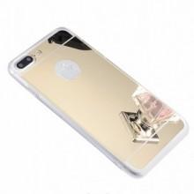 Husa Apple iPhone 8 Plus, Elegance Luxury tip oglinda Auriu