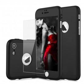 Husa Apple iPhone 8 Plus, FullBody Elegance Luxury Negru, acoperire completa 360 grade cu folie de sticla gratis