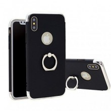 Husa Apple iPhone X, Elegance Luxury 3in1 Ring Negru