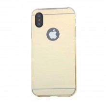 Husa Apple iPhone X, Elegance Luxury tip oglinda Auriu